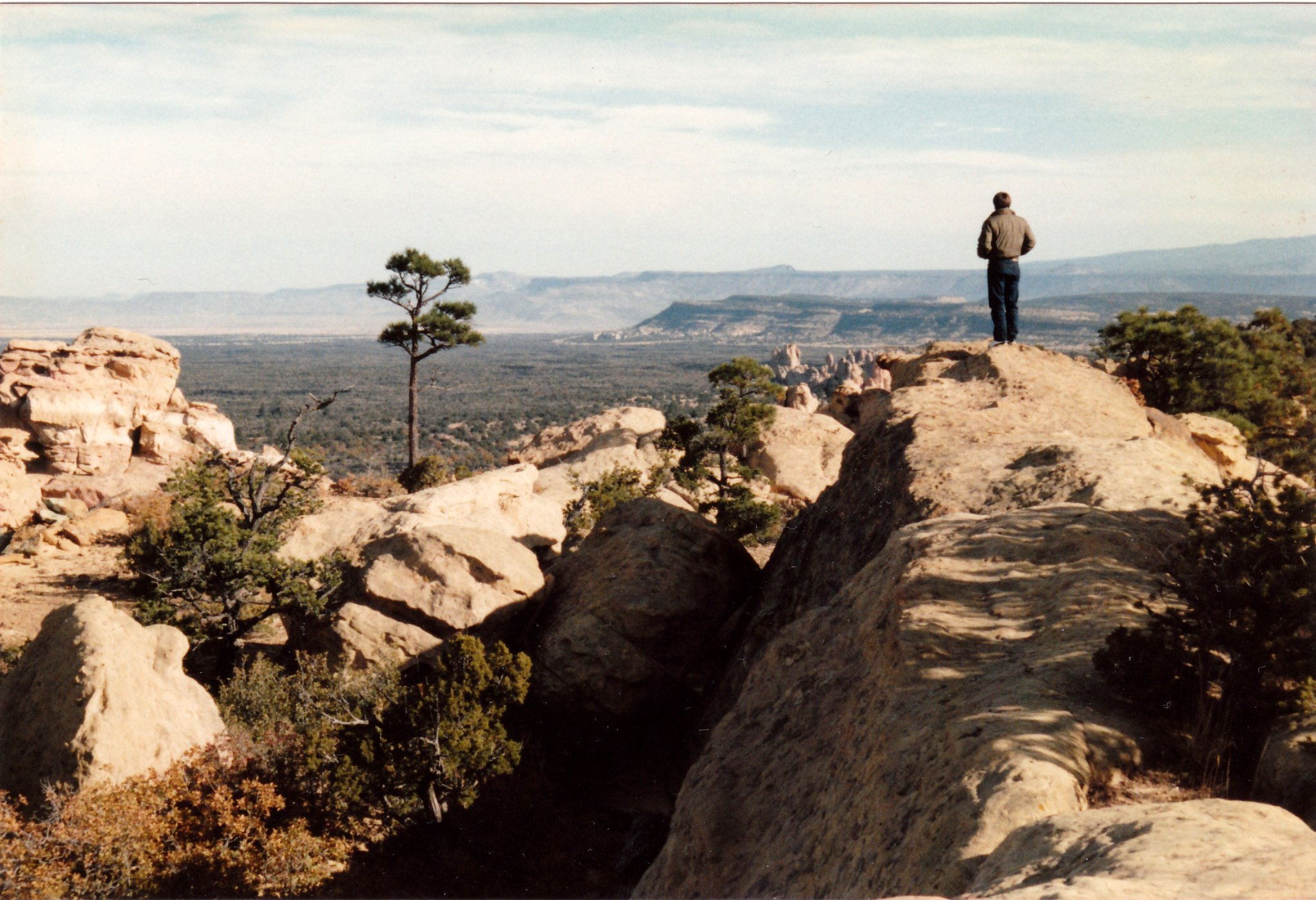 a cliff high above the Malpais plain in northwest New Mexico